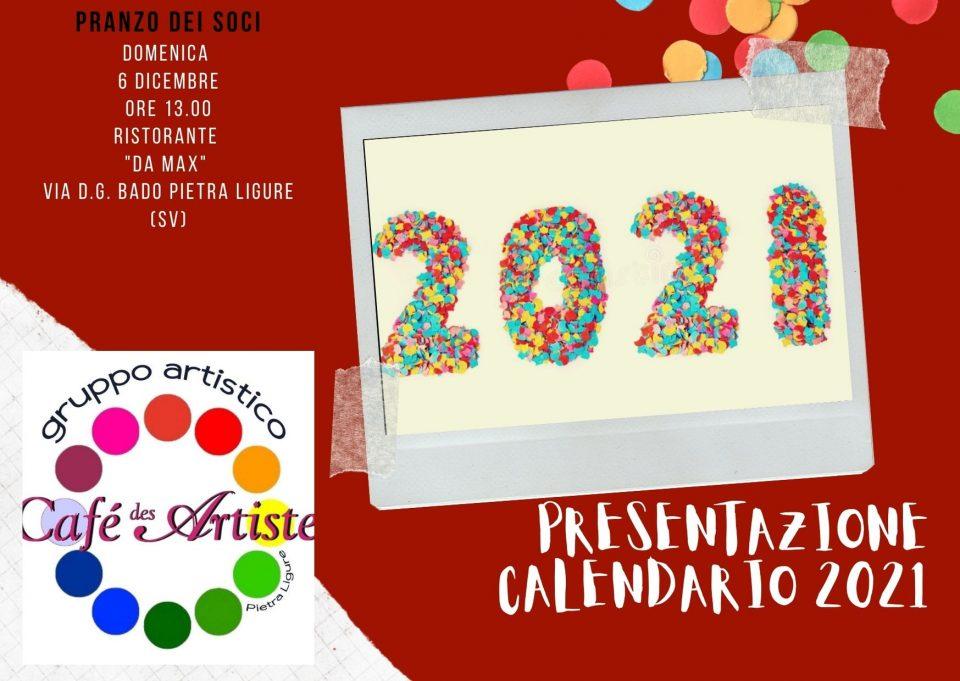 Presentazione del calendario 2021 presso il ristorante Da Max a Pietra Ligure per un pranzo soci.